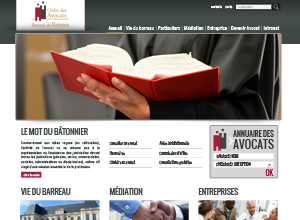Exemple site internet avocat design no 1