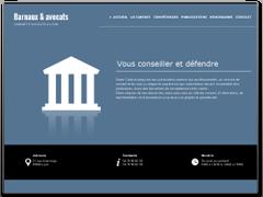 Exemple de site web avocat élégant, épuré
