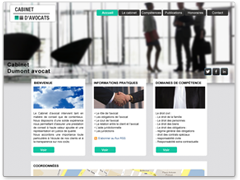 Exemple de site internet avocat modern, avec grande image