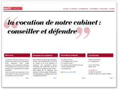 Modèle site web avocat simple, épuré