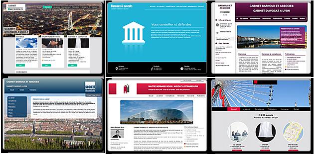 possibilités multiples de designs pour votre site web avocat